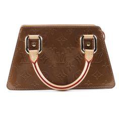Louis Vuitton of Paris Forsyth Monogram Vernis Bronze Leather Handbag  Leather Handbags 8d4ca079ce5c6