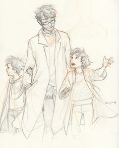 Harry with kids by burdge