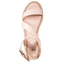 Even&Odd Sandals featuring polyvore, fashion, shoes, sandals, flats, scarpe, block heel sandals, bow sandals, synthetic shoes, cap toe shoes and open toe sandals
