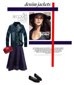 """""""Denim"""" by theitalianglam ❤ liked on Polyvore featuring Jeanjacket"""