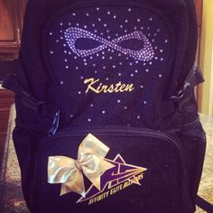 Blinged out Nfinity backpack for cheer