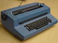 Using a Typewriter IBM Selectric and feeling like it was so high tech!  1980's