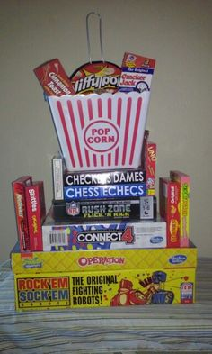 Family Game Night Basket Perfect For Raffle Or Silent Auction Event Include Board