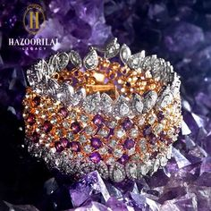 #LegacyOfDiamonds : The magnificent grandeur and glory of this Amethyst & Diamond bracelet carves the story of a billion years, making it a dream to possess. #HazoorilalLegacy #Diamonds