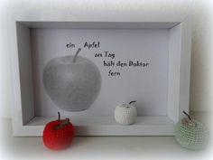 Bilderrahmen - Bild - an apple a day - ein Apfel am Tag.... - ein Designerstück…