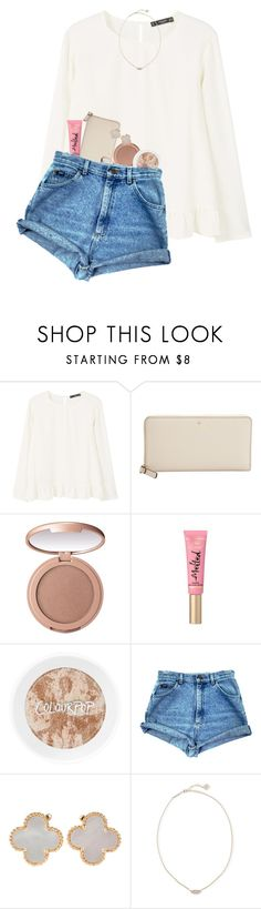 """""""Happy Valentines Day! ♥️"""" by erinlmarkel ❤ liked on Polyvore featuring MANGO, Kate Spade, tarte, Van Cleef & Arpels and Kendra Scott"""