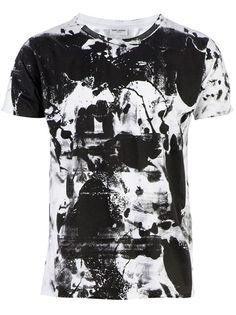 SAINT LAURENT Abstract Print T-Shirt