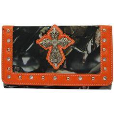 BNB Natural Camo® Western Rhinestone Accent Cross Fashion Wallet (Orange) Zebragogo http://www.amazon.com/dp/B00FZY65K0/ref=cm_sw_r_pi_dp_az0Hvb0VN5QYF