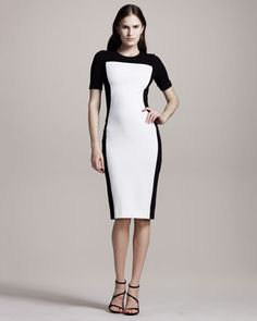 For my graduation look. Colorblock+Jersey+Dress+by+Stella+McCartney+at+Neiman+Marcus. Dress Backs, Dress P, Sheath Dress, Day Dresses, Dresses For Work, Stella Mccartney Dresses, Black And White Love, Work Attire, Color Blocking