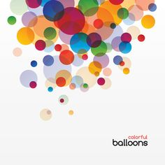 Colorful Balloons - Vector Graphic by DryIcons