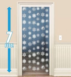 Christmas Door Decorations & Door Curtains - Christmas Window Decorations - Party City