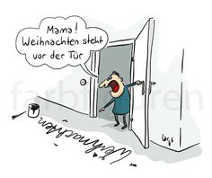 funpot: in front of the door.jpg of Renilinz- funpot: vor der Tuer.jpg von Renilinz funpot: in front of the door.jpg of Renilinz - Mistletoe And Wine, Christmas Jokes, Merry Xmas, Funny Cute, Cool Words, Decir No, Haha, Funny Pictures, Love You