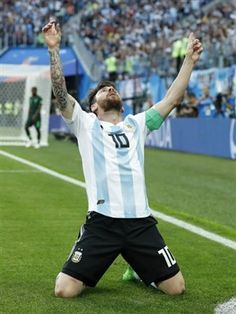 Lionel Messi of Argentina during the 2018 FIFA World Cup Russia group D match between Nigeria and Argentina at the Saint Petersburg Stadium on June 2018 in Saint Petersburg, Russia Fc Barcelona, Lionel Messi Barcelona, Messi Argentina, Messi World Cup, Messi Poster, Cr7 Junior, Messi And Neymar, Messi 10, Lionel Messi Wallpapers
