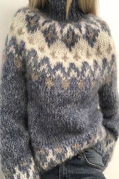 Warm Sweaters, Pullover Sweaters, Sweaters For Women, Knitwear Fashion, Sweater Fashion, Womens Clothing Stores, Clothes For Women, Women's Clothes, Pullover Mode