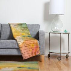 Susanne Kasielke Stripy Collage Fleece Throw Blanket | DENY Designs Home Accessories
