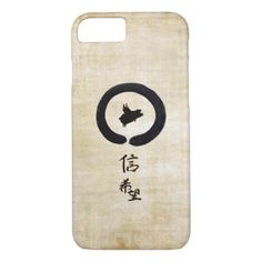 Flying Pig Zen Art - Hope & Faith in Chinese iPhone 7 Case - calligraphy gifts unique style cyo customize
