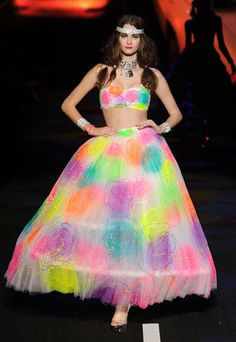 Betsey Johnson Neon Prom Dress @Jessica Bazan how sweet is this ...