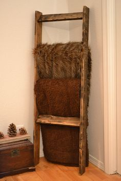 Rustic Weathered Blanket Ladder, Towel Rack, Quilt Rack, Mother's Day Gift…