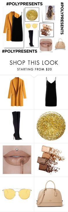 """""""Honey Bee"""" by hannah-mae-lebron ❤ liked on Polyvore featuring Post-It, rag & bone/JEAN, Gianvito Rossi, Burberry and Maybelline"""