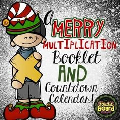 This FREE Merry Multiplication Booklet and Countdown Calendar will get students in the Christmas spirit as they practice multiplication strategies and fluency!