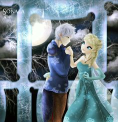 Jack and Elsa. Jalsa/Jelsa. Frozen/Frosty Midnight Love.