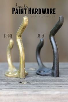 Spray Painting Metal Hardware No need to spend money on new hardware, all it needs is a simple face Spray Painting, Painting Metal, Pantone Paint, Painting Hardware, Diy Furniture Decor, Stripping Paint, Metallic Spray Paint, Simple Face, Paint Supplies