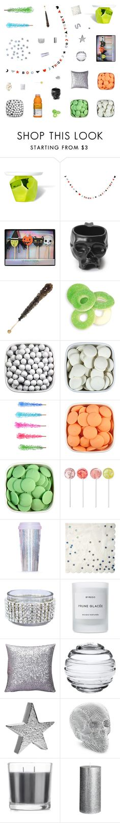 """""""Retro Halloween Party Decor"""" by belenloperfido ❤ liked on Polyvore featuring interior, interiors, interior design, home, home decor, interior decorating, Imm Living, Meri Meri, Williams-Sonoma and WALL"""