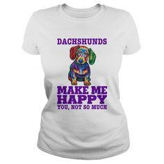 DACHSHUNDS MAKE ME HAPPY T-SHIRTS, HOODIES, SWEATSHIRT (23$ ==► Shopping Now)