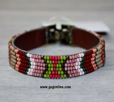 SALE Gypsy Soule Coral, Green and Tan Tone Beaded Bracelet