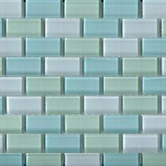 Subway tile for kitchen backsplash or bathroom tile ideas with white Santa Monica blend