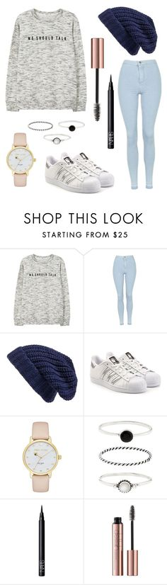 Casual by secret-girl02 on Polyvore featuring MANGO, Topshop, adidas Originals, Kate Spade, Accessorize, Hinge and NARS Cosmetics