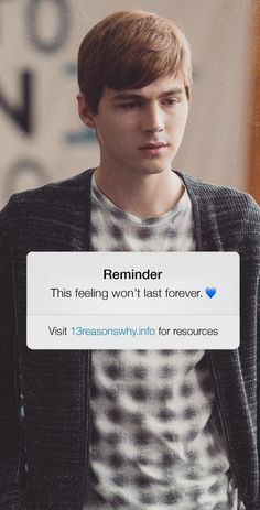 This feeling won't last forever 💙 Alex 13 Reasons Why, Thirteen Reasons Why Cast, 13 Reasons Why Poster, 13 Reasons Why Reasons, 13 Reasons Why Netflix, Alex Standall, Dark Thoughts, Lose My Mind, Reminder Quotes