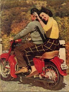 Jawa 1958 (via jawaczownersclub) Vintage Motorcycles, Cars Motorcycles, Jawa 350, Cafe Racing, Motorbikes, Biker, Scooters, Classic, Iron