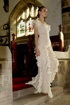 Down the aisle in a truffle dress...