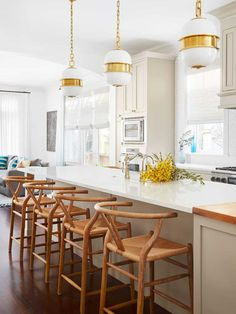 Bright and Airy Kitchen in Chicago Open Concept Single Family Home