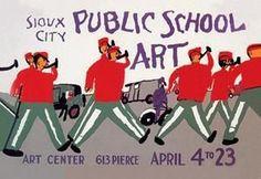 Art Print Sioux City Public School New DB-16601