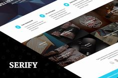 Check out Serify - Multi­Purpose Theme by Coffee-Themes on Creative Market
