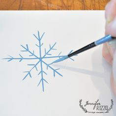 How to paint a snowflake with just lines and v's