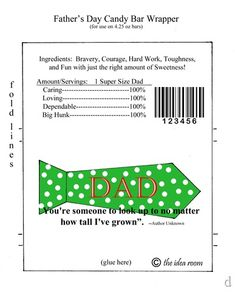 Father's Day Candy Bar Wrapper Printables - The Idea Room Candy Bar Labels, Candy Bar Wrappers, Unique Gifts For Dad, Gifts For Father, Easy Fathers Day Craft, Daddy Day, Easy Diy Gifts, Chip Bags, Mother And Father