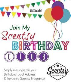 Scentsy Birthday Club
