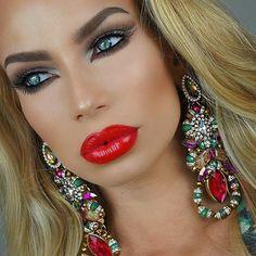 Love her makeup Sexy Makeup, Glam Makeup, Love Makeup, Makeup Looks, Hair Makeup, Makeup Eyeshadow, Beauty Make Up, Hair Beauty, Beauty Skin