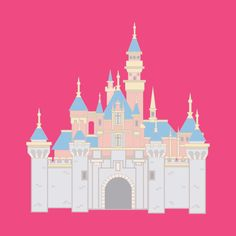 Shop Disneyland Castle disney t-shirts designed by fastpassfacts as well as other disney merchandise at TeePublic. Old Disney, Disney Art, Disney Magic, Disney Castle Drawing, Disney Drawings, Medieval Times History, Ancient History, Cardboard Box Crafts, Cardboard Castle