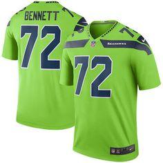 Men's Seattle Seahawks Michael Bennett Nike Green Color Rush Legend Jersey