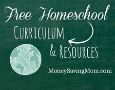 Click through for a HUGE list of #free #homeschool printables, resources, curriculum, and more!