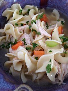 No Yolks Chicken Noodle Soup from allrecipes.com #AllstarsNoYolks. #onlynoyolks
