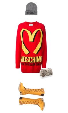 """CAN I CHIC YOUR ORDER"" by robertbatese ❤ liked on Polyvore featuring Moschino, Wet Seal, Nina Ricci, Young & Reckless, women's clothing, women's fashion, women, female, woman and misses"