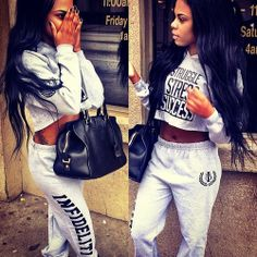 therealleaah: lushpussyhighheels: Ameenah Ali XIV Tomboy Fashion, Dope Fashion, Fashion Killa, Chill Outfits, Dope Outfits, Outfits For Teens, Fashion Outfits, Swag Girl, Pretty Girl Swag