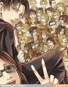 Attack on titan. Finally a family picture *-*