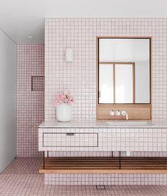 Sjb bathroom, pink mosaics