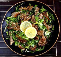 Boczniaki-pieczone-z-pieprzem-cytrynowym Snack Recipes, Snacks, Japchae, Food And Drink, Gluten Free, Vegetarian, Yummy Food, Lunch, Beef